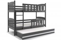 Трехярусная раздвижная кровать. KUBUŠ 200 трёхъярусная детская кровать. Кровати трехъярусные