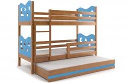 Трехярусная раздвижная кровать MAX 160 трёхъярусная детская кровать Кровати трехъярусные