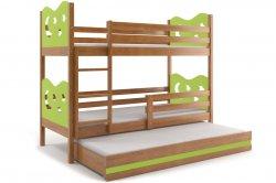 MAX 190 трёхъярусная детская кровать. Кровати трехъярусные. Детские кровати смайл 12 для троих