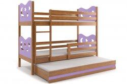 Кровати трехъярусные Трехярусная раздвижная кровать MAX 200 трёхъярусная детская кровать