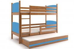 TAMI 160 трёхъярусная детская кровать. Кровати трехъярусные. Детские кровати смайл 12 для троих