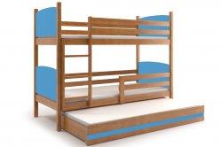 Трехярусная раздвижная кровать TAMI 160 трёхъярусная детская кровать Кровати трехъярусные