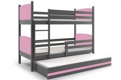 Кровати трехъярусные. Трехярусная раздвижная кровать. TAMI 190 трёхъярусная детская кровать