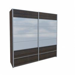Wardrobes with sliding doors - Novelts Nicol МН-020-03C warderobe with mirror Sale Furniture