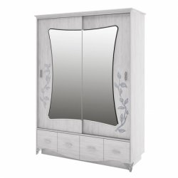 Wardrobes with sliding doors - Novelts Bristol МН-125-03 warderobe Sale Furniture