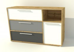 Joy T41 chest of drawers - Poland - Hoffer - Commodes Ambrys - Childrens room