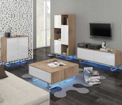 King 1 drawing room - Poland - MEBLOCROSS - Modern drawing rooms - WALL, UNITS, Showcases