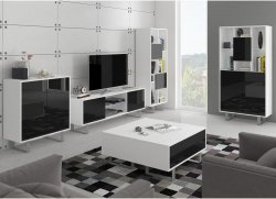 King 3 drawing room - Poland - MEBLOCROSS - Modern drawing rooms - WALL, UNITS, Showcases