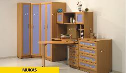 Mukas 1. Секции Молодежные. Фото детских и молодёжных мебелей