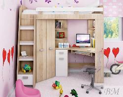 Детская двухъярусная кровать со шкафом Antressola. Кровати двухъярусные. Двухъярусные кровати ширина 185