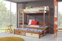 Bērnu gulta NATU 3. Gultas trīsstāvu. Bernu gulta 3 stavi