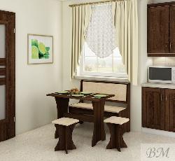 Кухонный уголок с табуретами. Кухонные уголки. Угловой диван на кухню фото