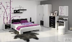 Guļamistabas iekārtas Mēbeles guļamistabā Viki Plumju krasas gulta