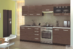 Кухни встроенные. AMANDA 1 кухня. Кухня береза грейд