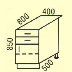 D-23 - Нижние шкафчики  - Новинки - Купить Мебель