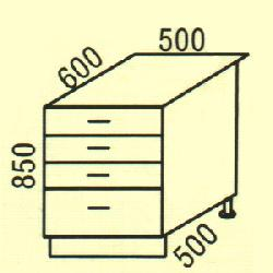 D-33 - Нижние шкафчики  - Новинки - Купить Мебель