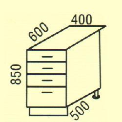 Нижние шкафчики Размер столешницы для кухни D-5