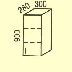 Верхние шкафчики. G-40. Фасад клен новий
