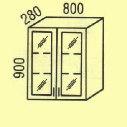Верхние шкафчики - G-49 - фасад клен новий