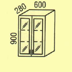 Верхние шкафчики - фасад клен новий - G-50