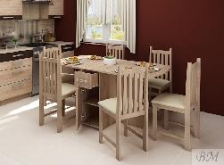 Стол трансформер EXPERT X. Раскладной стол для кухни. Раскладные столы