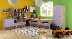Высота двуспальной кровати. Секции Молодежные. Mебель в детскую комнату KITTY I