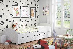 Lili bērnu gulta - divguļamās gultas ar veļas kasti - Gultiņas Gultas