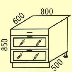 D-18 - Нижние шкафчики  - Новинки - Купить Мебель