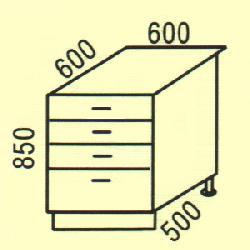 D-25 - Нижние шкафчики  - Новинки - Купить Мебель