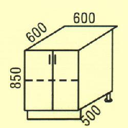 D-7 Нижние шкафчики Размер столешницы для кухни