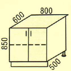 D-8 - Нижние шкафчики  - Новинки - Купить Мебель