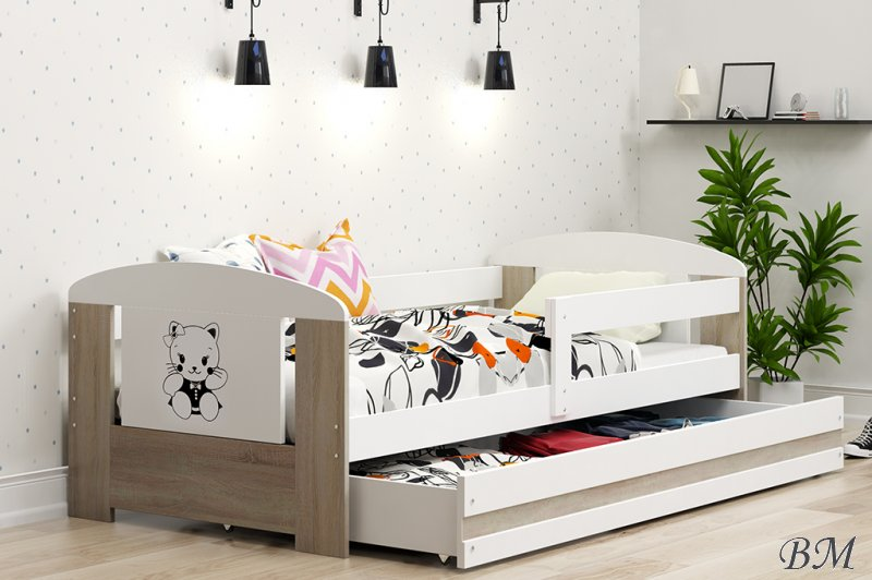 Filip kids bed with sticker childrens beds poland bms for Furniture made in poland