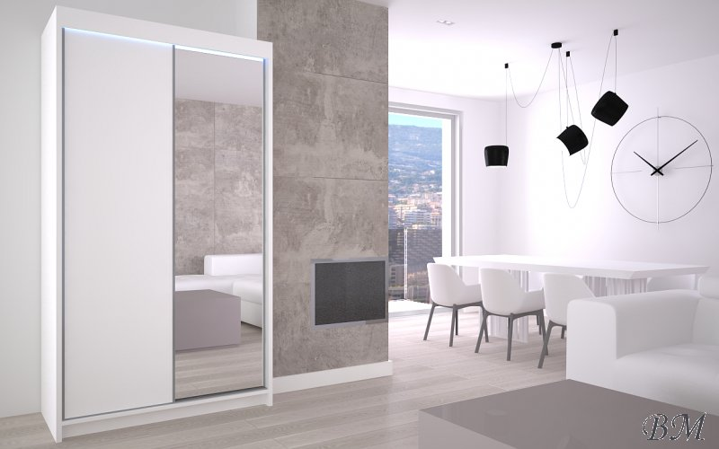 Sale Furniture Poland Makspol Wardrobes with sliding doors warderobe 120 PATTI