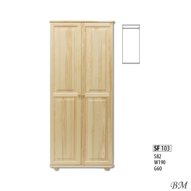Sale Furniture warderobe SF103 Cases 2-door Poland Drewmax