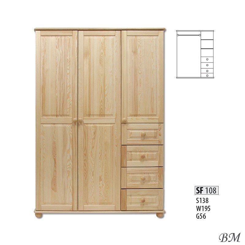 3-durvju skapji