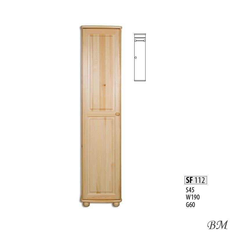 SF112 шкаф Drewmax 1-дверные шкафы ШКАФЫ Гардероб Мебель