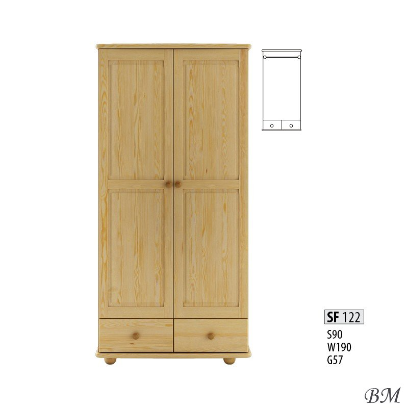 Sale Furniture Drewmax Poland SF122 warderobe Cases 2-door