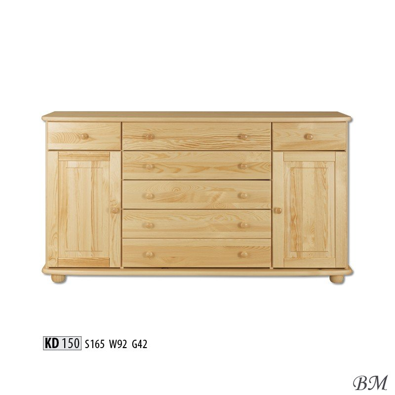 Kd150 chest of drawers dressers poland drewmax for Furniture made in poland