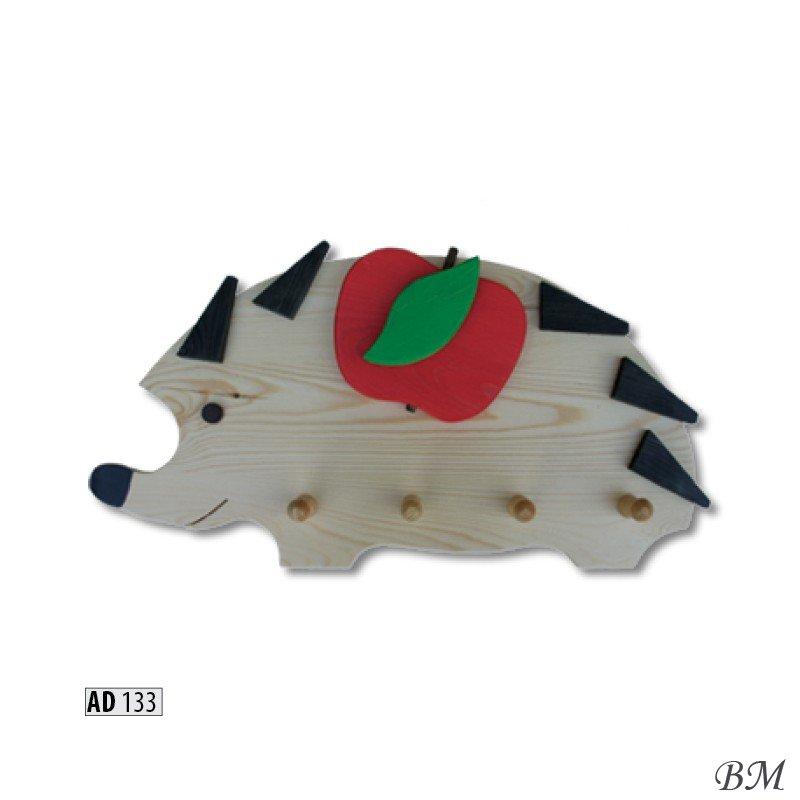 Мебель Детская комната Вешалки для одежды - AD132 вешалка черепаха - вешалка трансформер металл дерево 4 уровня с перекладиной 41х40см