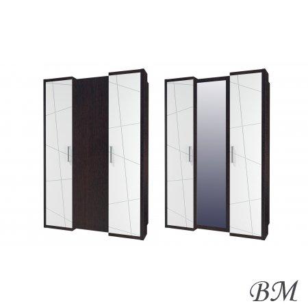 Skapis Bali 3D - Mēbeles Garderobe SKAPJI 3-durvju skapji - line audio cm 3