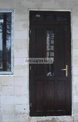 Дверь с фрамугой AD6 - Входные ( наружные ) деревянные  двери