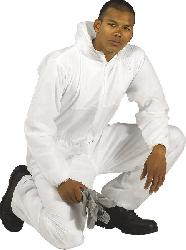 Protective coveralls - PP 40g Coverall ST11 white