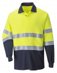 Flame Resistant and Anti-Static workwear - Flame Resistant Anti-Static Two Tone Polo Shirt