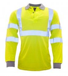 Огнестойкая антистатическая рабочая одежда - Огнестойкая антистатическая футболка-поло с длинным рукавом
