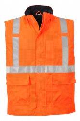Светоотражающий антистатич. водонепр. огнестойкий жилет Bizflame Огнестойкая антистатическая рабочая одежда