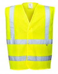 Flame Resistant and Anti-Static workwear - Hi-Vis Anti Static Vest - Flame Resistant