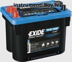 Akumulators 12v 24ah - Auto akumulators EXIDE ORBITAL 12V/50Ah/ 750A EP450 AKB260x173x206 AK-DO900DC Akumulators - Akumulatori