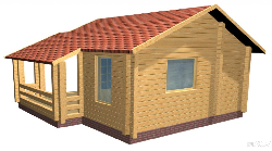 Brusu pirts D - wooden house 40m2