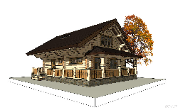 Log house No.8 131 m2 - 100m2 house projects