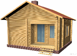 Brusu pirts B - wooden house 40m2